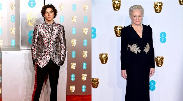 Timothée Chalamet y Glenn Close