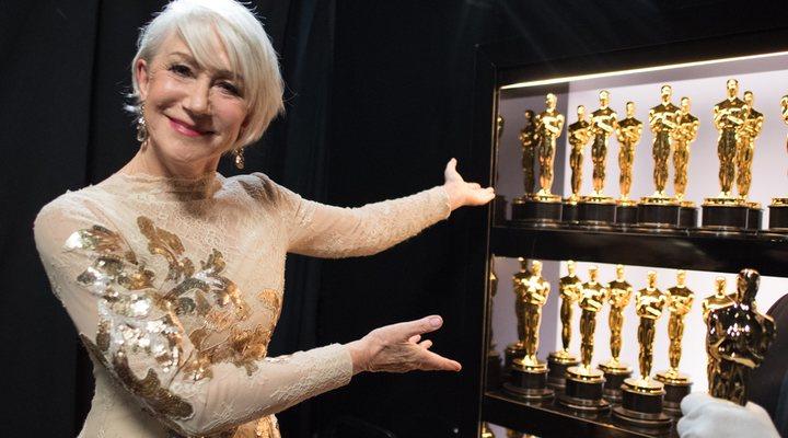 Helen Mirren con los Oscar