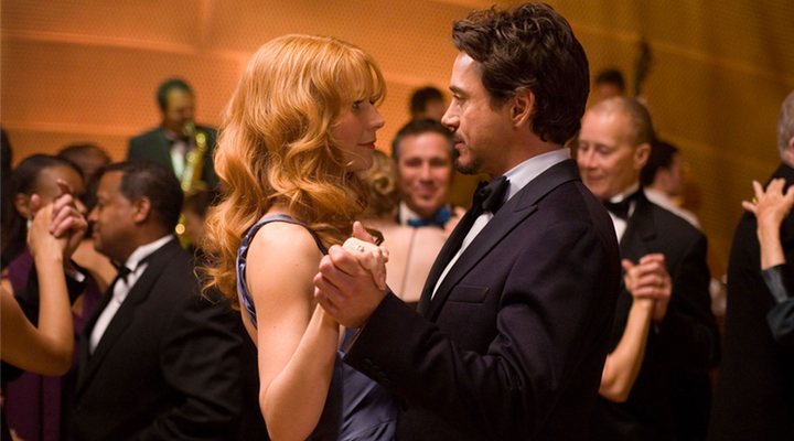 Pepper Potts y Tony Stark en 'Iron Man '