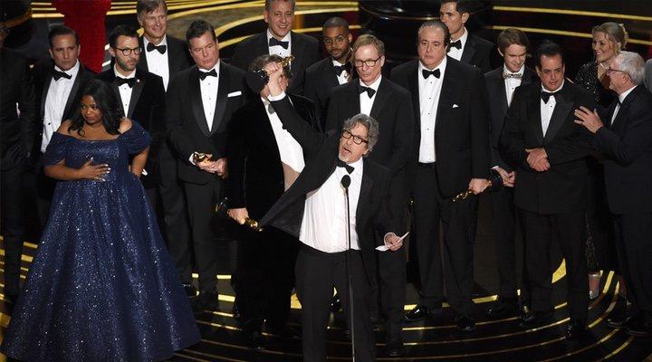 El equipo de 'Green Book', con el Oscar a mejor película