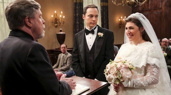 Sheldon y Amy en la temporada 11 de 'The Big Bang Theory'