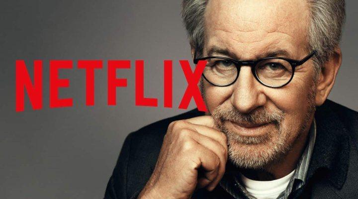 Montaje con Spielberg y el logo de Netflix