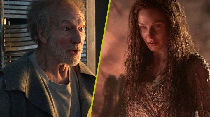 Patrick Stewart y Rebecca Ferguson en 'El niño que pudo ser rey'
