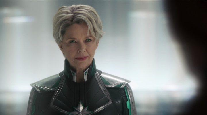 Annette Bening como la Inteligencia Suprema en 'Capitana Marvel'