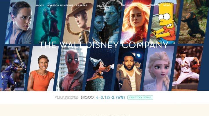 Página oficial de Disney
