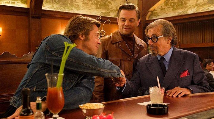 Brad Pitt, Al Pacino y Leonardo DiCaprio en 'Érase una vez en... Hollywood'