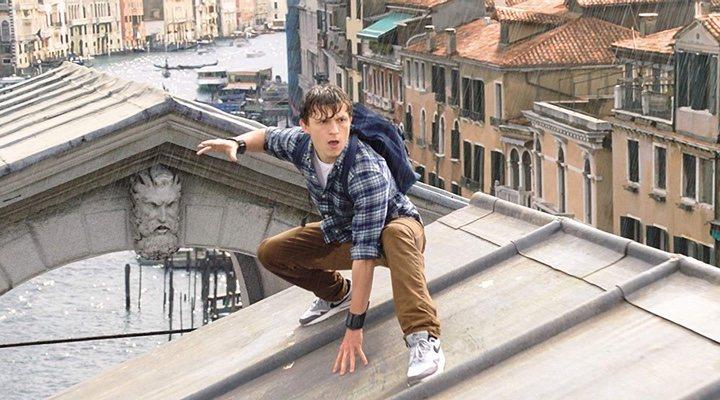 Tom Holland en 'Spider-Man: Lejos de casa'