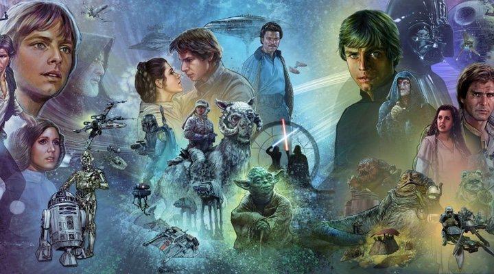 Parte del mural de la franquicia 'Star Wars'