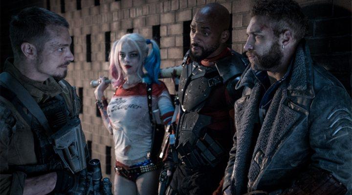 Margot Robbie, Will Smith, Jai Courtney y Joel Kinnaman en 'Escuadrón Suicida'