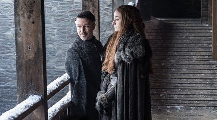 'Sansa Stark y Meñique en 'Juego de Tronos''