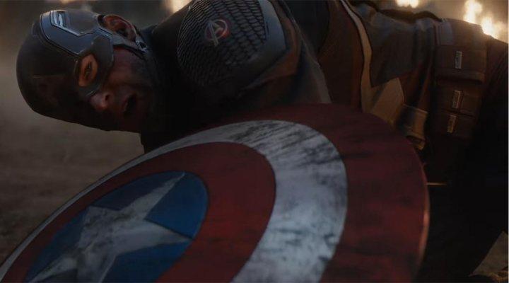 Chris Evans como el Capitán América en 'Vengadores: Endgame'