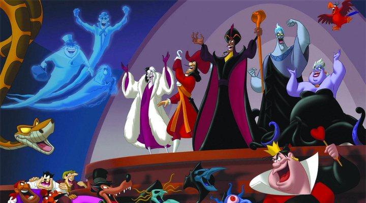 Los villanos Disney en 'El club de los villanos'