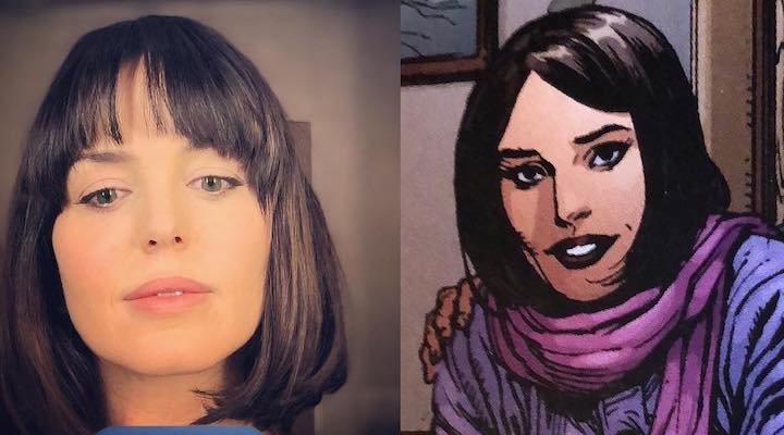 Marta Milans y su personaje, Rosa, en los cómics de DC