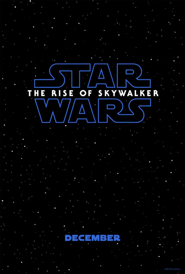 Teaser póster de 'Star Wars: Th Rise of Skywalker'