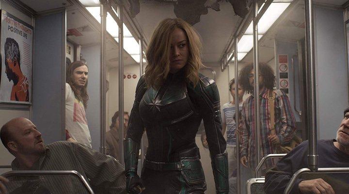 Brie Larson en 'Capitana Marvel'.