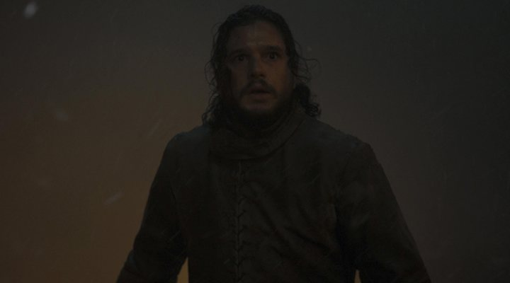 'Jon Nieve durante la batalla de Invernalia'