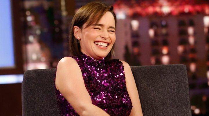 Emilia Clarke en el programa 'Jimmy Kimmel Live!'
