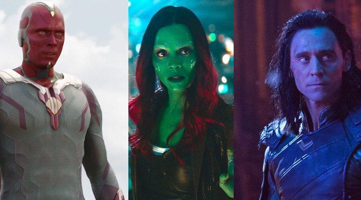 Visión, Gamora y Loki en 'Vengadores: Infinity War'