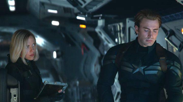 La Viuda Negra y el Capitán América en 'Vengadores: Endgame'