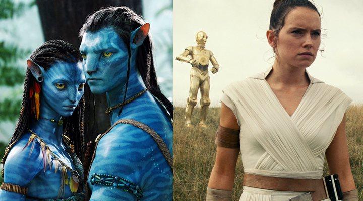 'Avatar' (izquierda) y 'Star Wars: El Ascenso de Skywalker' (derecha)