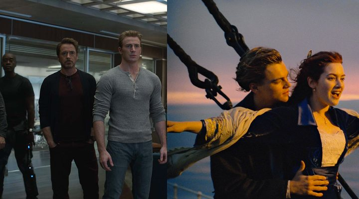Avengers: Endgame' (izquierda) y 'Titanic' (derecha)