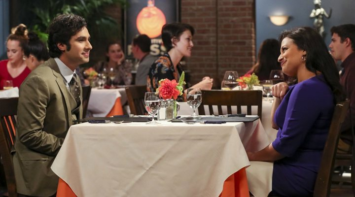 Kunal Nayyar y Ratu Gupta en 'The Big Bang Theory'