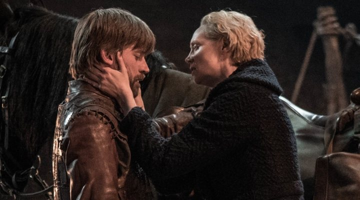 Jaime y Brienne en el 8x04 de 'Game Of Thrones'