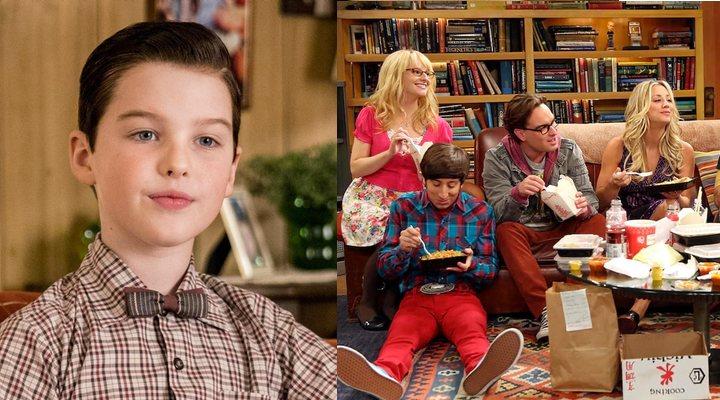 'El joven Sheldon' (izquierda) y 'The Big Bang Theory' (derecha)
