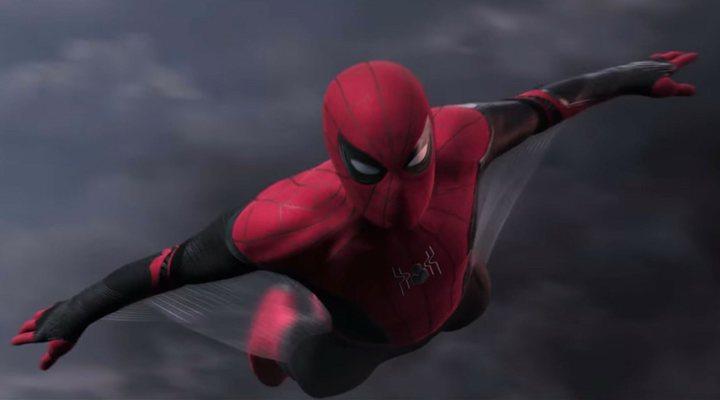 Tom Holland como Spider-Man en 'Spider-Man: Lejos de casa'