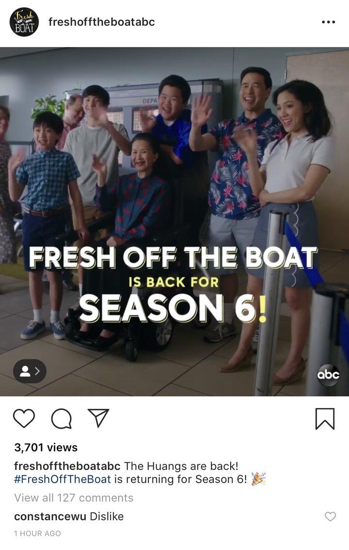 Constance Wu en Instagram