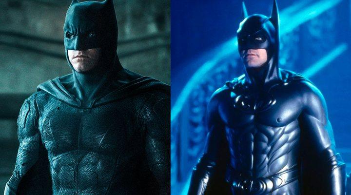Ben Affleck en 'Liga de la Justicia' y George Clooney en 'Batman y Robin'