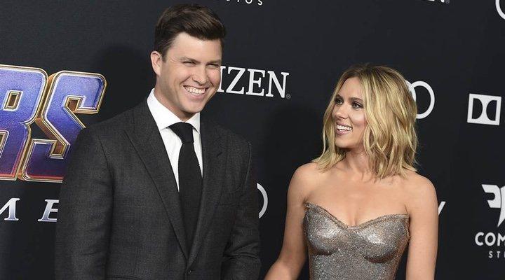 Scarlett Johansson y Colin Jost premiere 'Venagdores: Endgame'