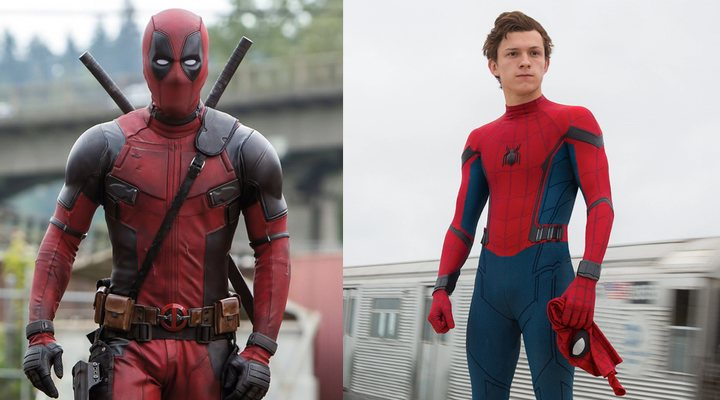 Ryan Reynolds como Deadpool y Tom Holland como Spider-Man