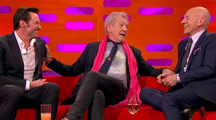 Hugh Jackman, Ian McKellen y Patrick Stewart