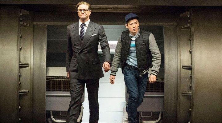 Kingsman Taron Egerton y Colin Firth