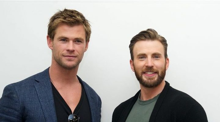 Chris Evans y Chris Hemsworth