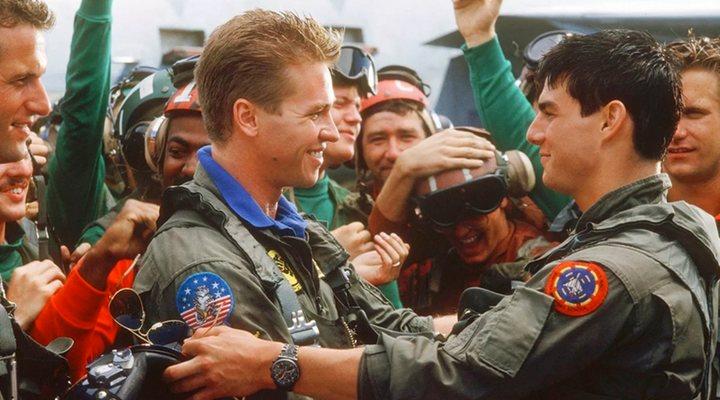 Val Kilmer y Tom Cruise en 'Top Gun- Ídolos del aire'