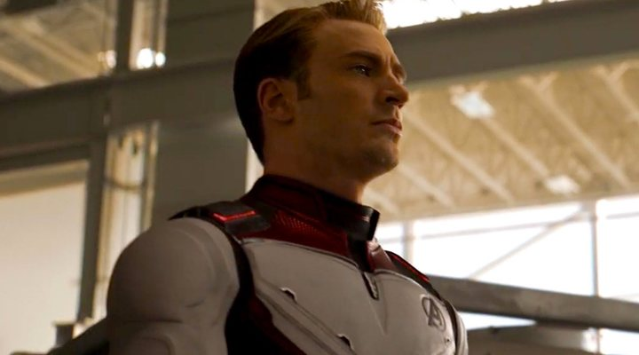 Chris Evans como el Capitán América en 'Vengadores: Endgmae'