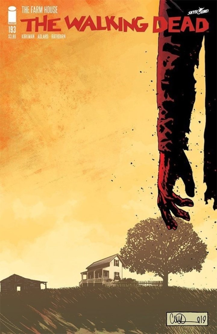 Portada número 193 cómic 'The walking Dead'