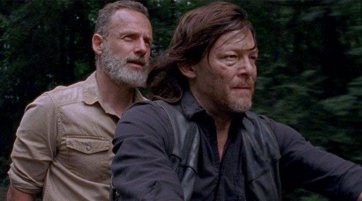 Daryl y Rick en la temporada 9 'The Walking Dead'