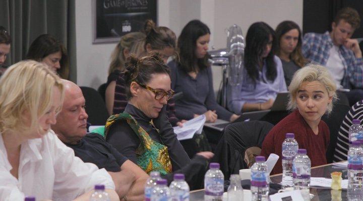 Emilia Clarke y Lena Headey en 'Juego de Tronos: La última guardia'