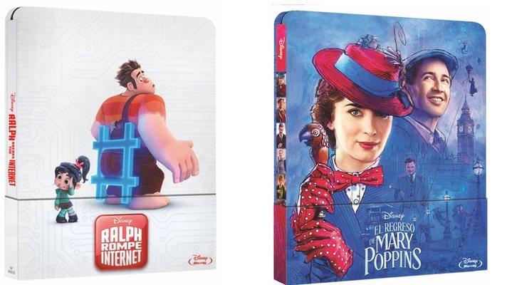 steelbooks 'Ralph Rompe Internet' y 'El regreso de Mary Poppins'