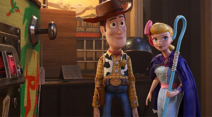 Woody y Bo Peep en 'Toy Story 4'