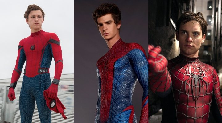 Tom Holland, Andrew Garfield y Tobey Maguire