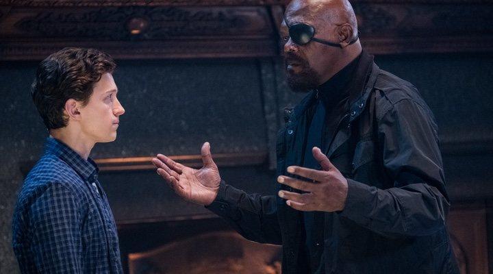 Tom Holland y Samuel L. Jackson en 'Spider-Man: Lejos de casa (2019)'