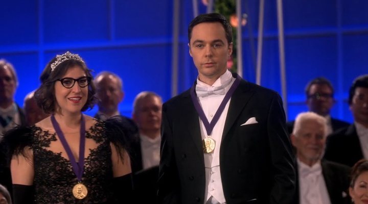 Sheldon y Amy recogen el Nobel en 'The Big Bang Theory'