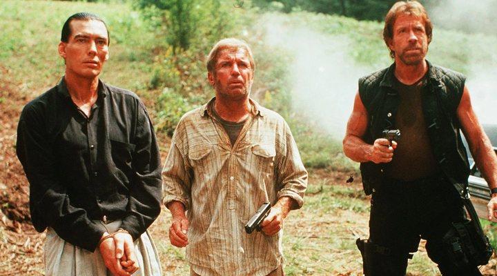 Billy Drago con Chuck Norris