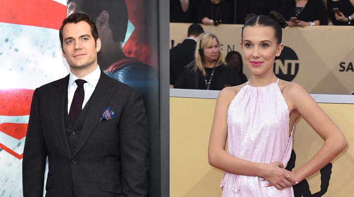 Henry Cavill y Millie Bobby Brown