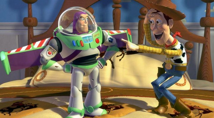 Woody y Buzz en 'Toy Story'