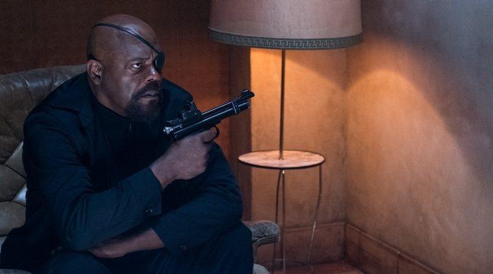 Samuel L. Jackson como Nick Furia en 'Spider-Man: Lejos de casa (2019)'